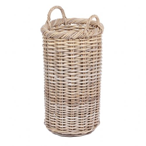 Round Tapered Basket with Ear Handles Kooboo Grey